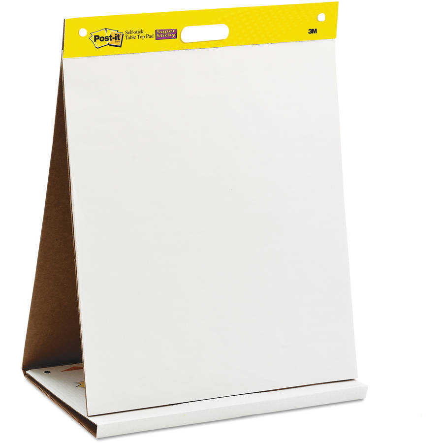 Post it self stick easel pad twin pack w bonus command strips