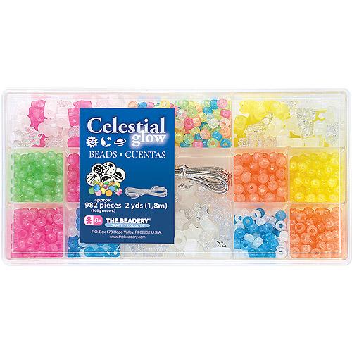 Beadery B6523 982-Piece Bead Box Kit, 6-Ounce, Celestial Glow Multi-Colored