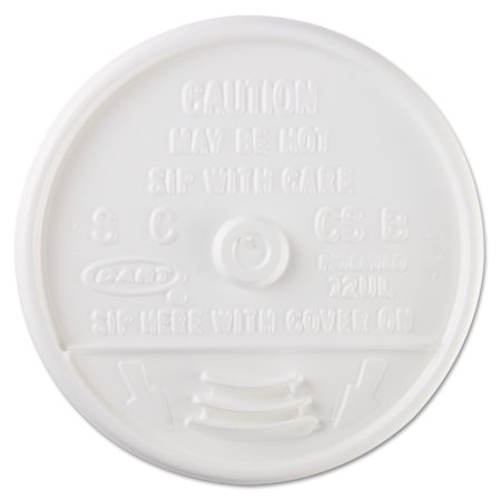 Cup Lids (Dart Sip-Through Plastic Lids for 10, 12 or 14 Oz Foam Cups, White, (Pack of)