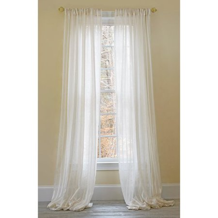Manor Luxe Hanover Striped Sheer Rod pocket Single Curtain Panel