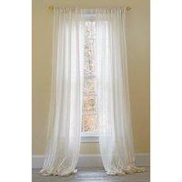 Manor Luxe Hanover Striped Sheer Rod pocket Single Curtain Panel