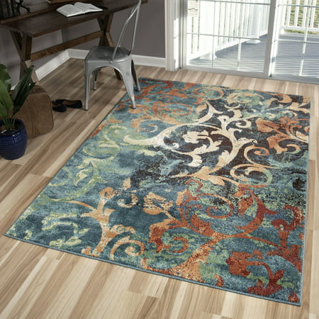 Orian Rugs Watercolor Scroll Multi-Colored Area Rug or Runner ()