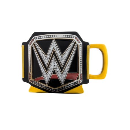 WWE Title Belt Sculpted Ceramic Mug, 16oz (Sculpted Ceramic)