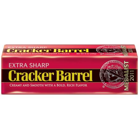 Cracker Barrel Extra Sharp Cheddar Cheese 8 oz. Brick - Walmart.com