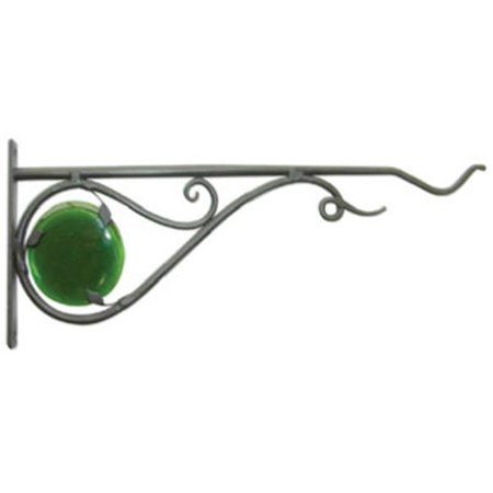 Forge Hanging (85041 15 in. Black Forged Stained Glass Hanging Plant Bracket)