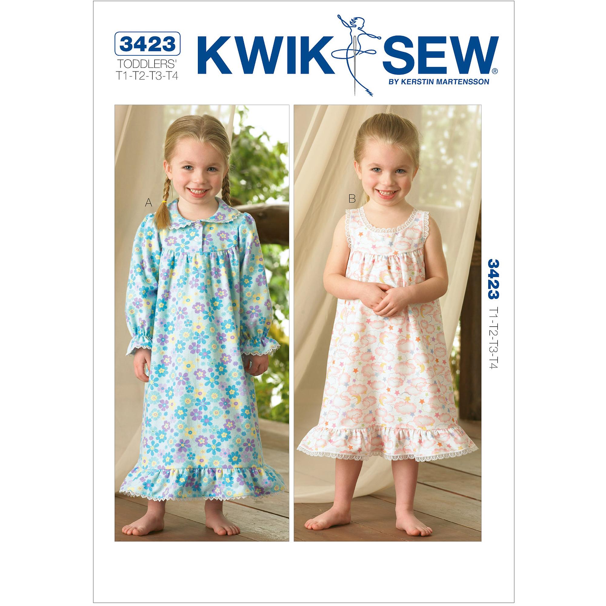 Kwik Sew Pattern Nightgowns, (T1, T2, T3, T4)