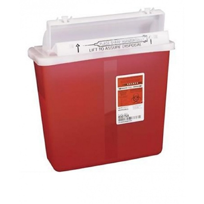 Sharps Container, SharpStar, 5 Quart, Red, In-Room Multipurpose, 8507SA - Case of 20