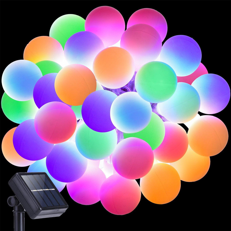 2pack Landscape Decor String Globe Rgb Led 20 Lights 16 5ft Novelty Ball Fairy Outdoor