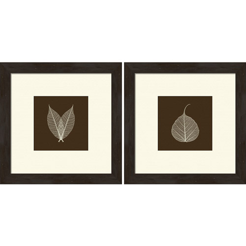 Pro Tour Memorabilia Leaves Framed Artwork, Set of 2