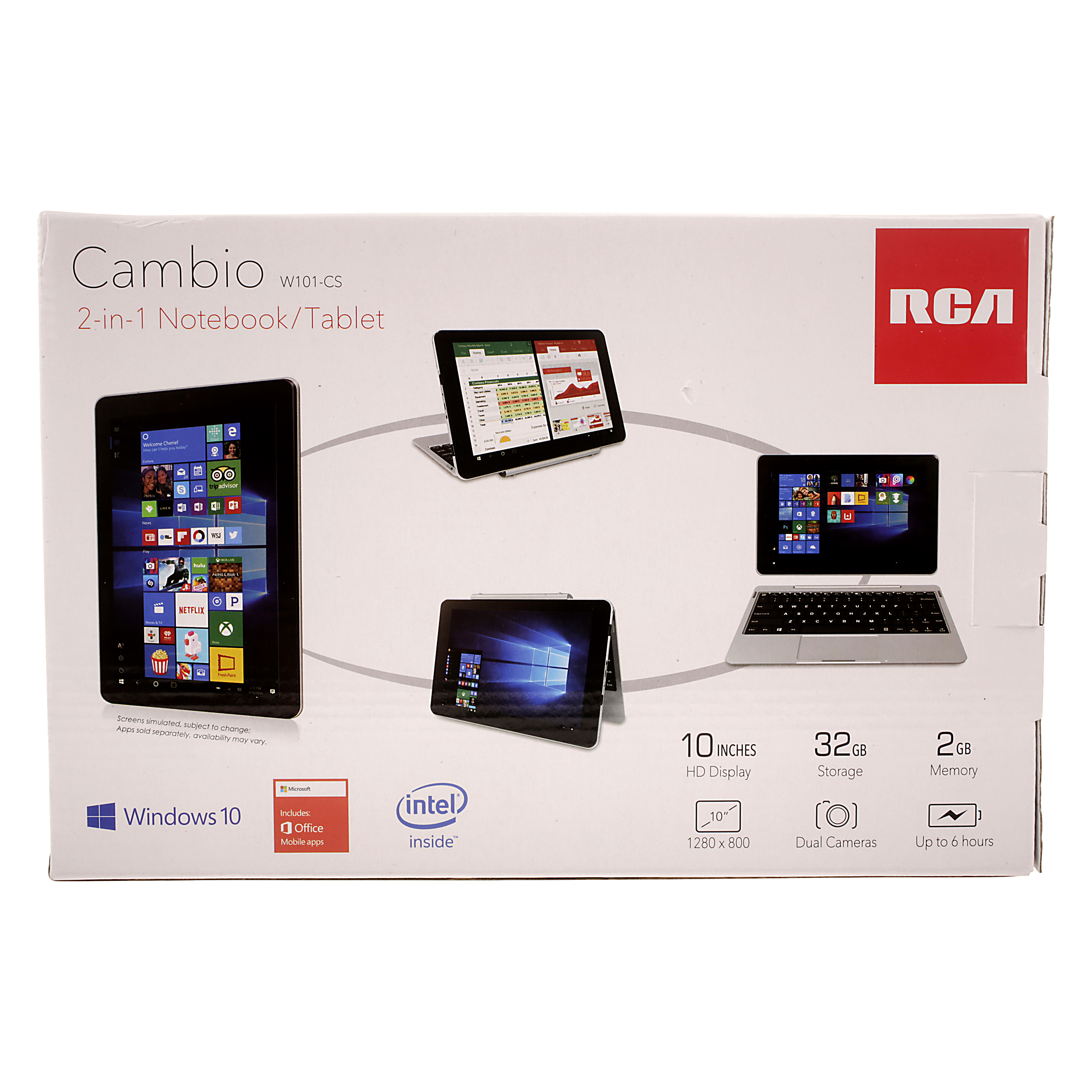 RCA Cambio 2-in-1 notebook/tablet