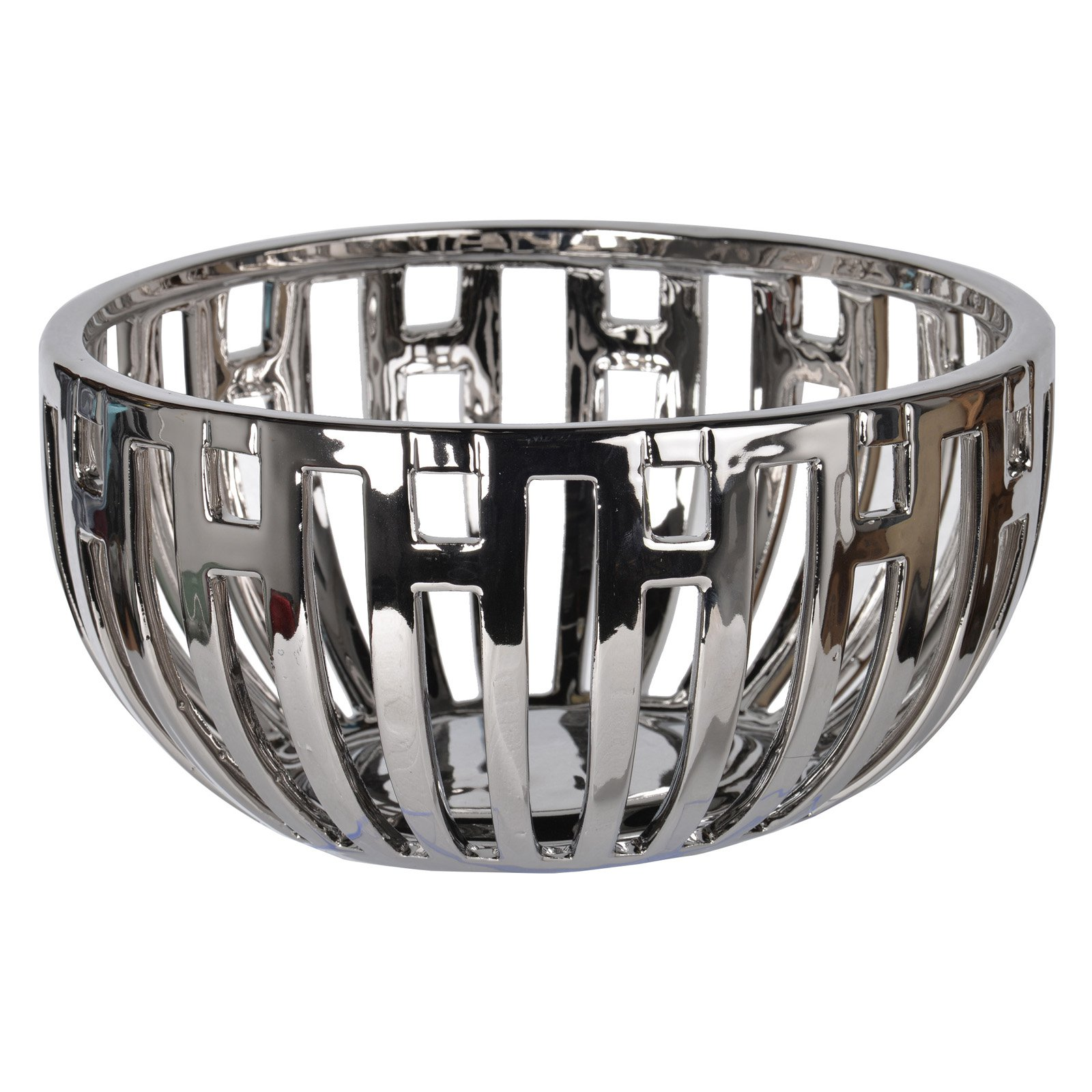 A and B Home Metro Metallic Decorative Centerpiece Bowl by