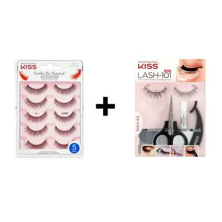 KISS Lash 101 - Effortless + KISS Looks So Natural Multipack 001 (Creme Eyelashes 101)