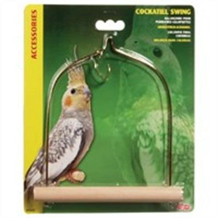 Lw Cockatiel Swing/Wood Perch