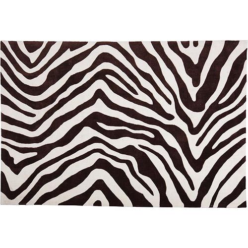 Studio J Zebra Rug Brown Ivory Walmart Com