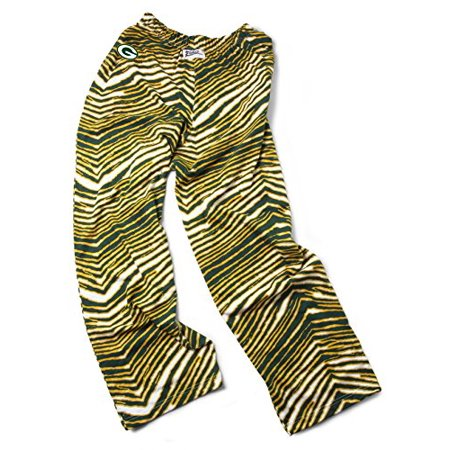 Green Bay Packers Zubaz Adult Pants Green Yellow S