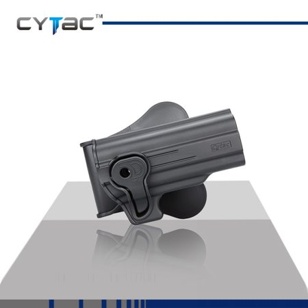 CYTAC HI POINT Paddle Holster with Trigger Release 360 degree Adjustable Cant, Polymer Holster Injection Molded for HI POINT 40 / 45 | OWB Carry, RH | 7 attachment