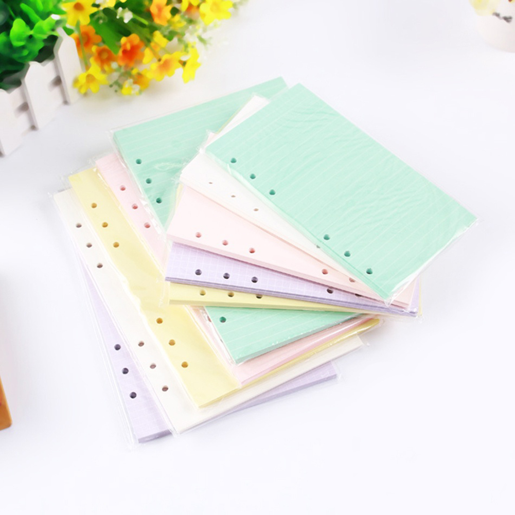 Girl12Queen 40 Sheets A5/A6 Filler Papers Loose-leaf Notebook 6 Holes Office School Supplies