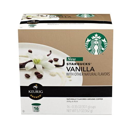 Starbucks Vanilla Coffee K-Cups, 0.35 oz, 16 count