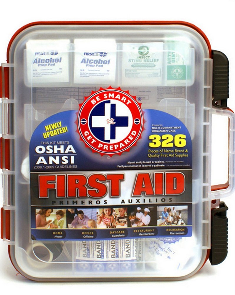 First Aid Kit with Hard Case 326 Pieces by Total Resources International
