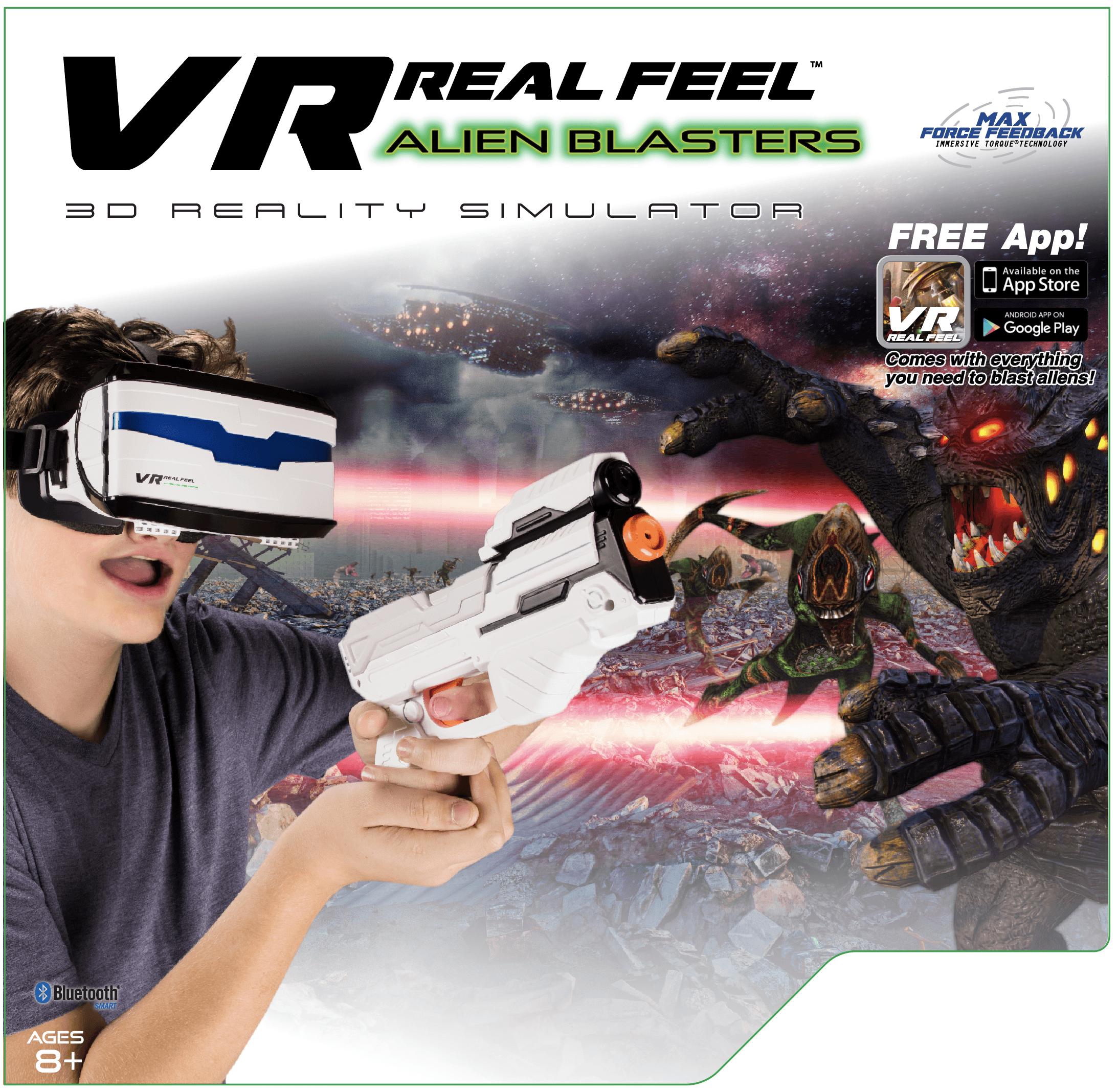 VR Real Feel Alien Blasters W/ Headset