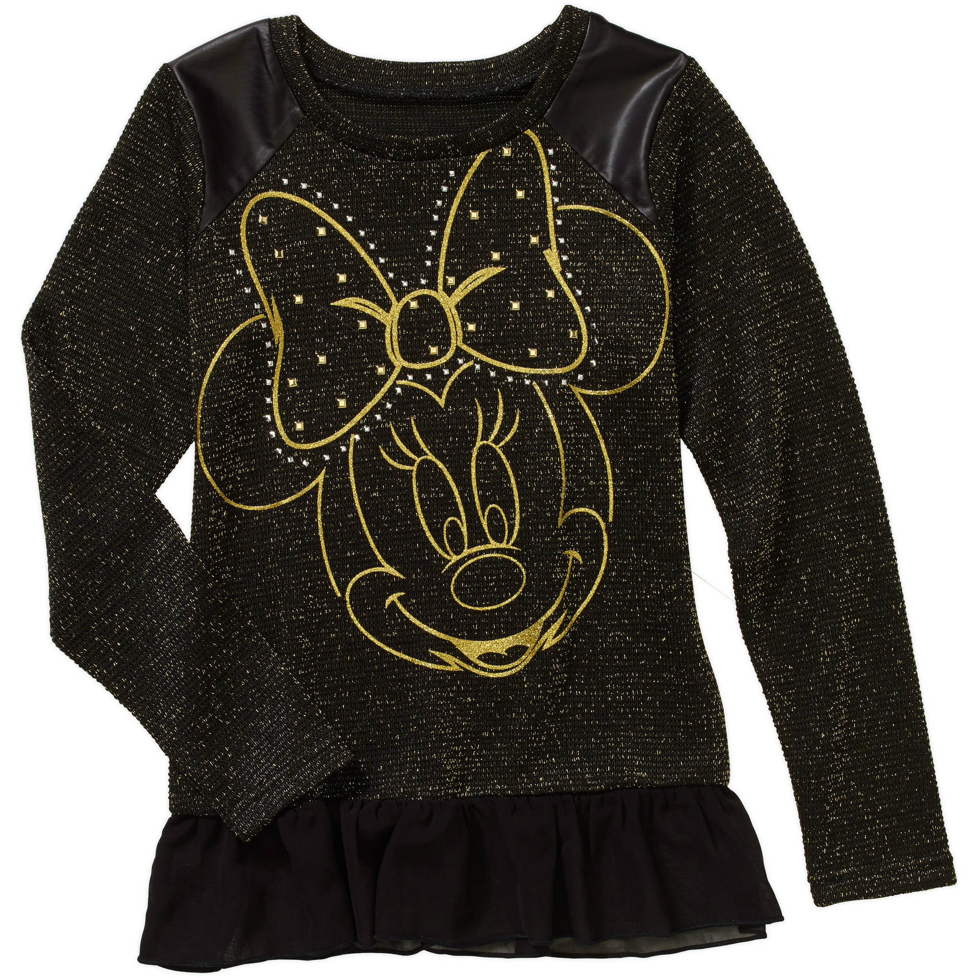 Minnie Mouse Girls' Hatch Peplum Top