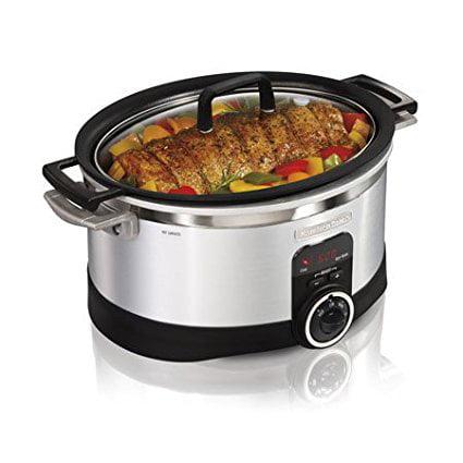 6-Quart Programmable Searing Slow Cooker, New Hamilton Beach 33567T 6 QT Oval Stove