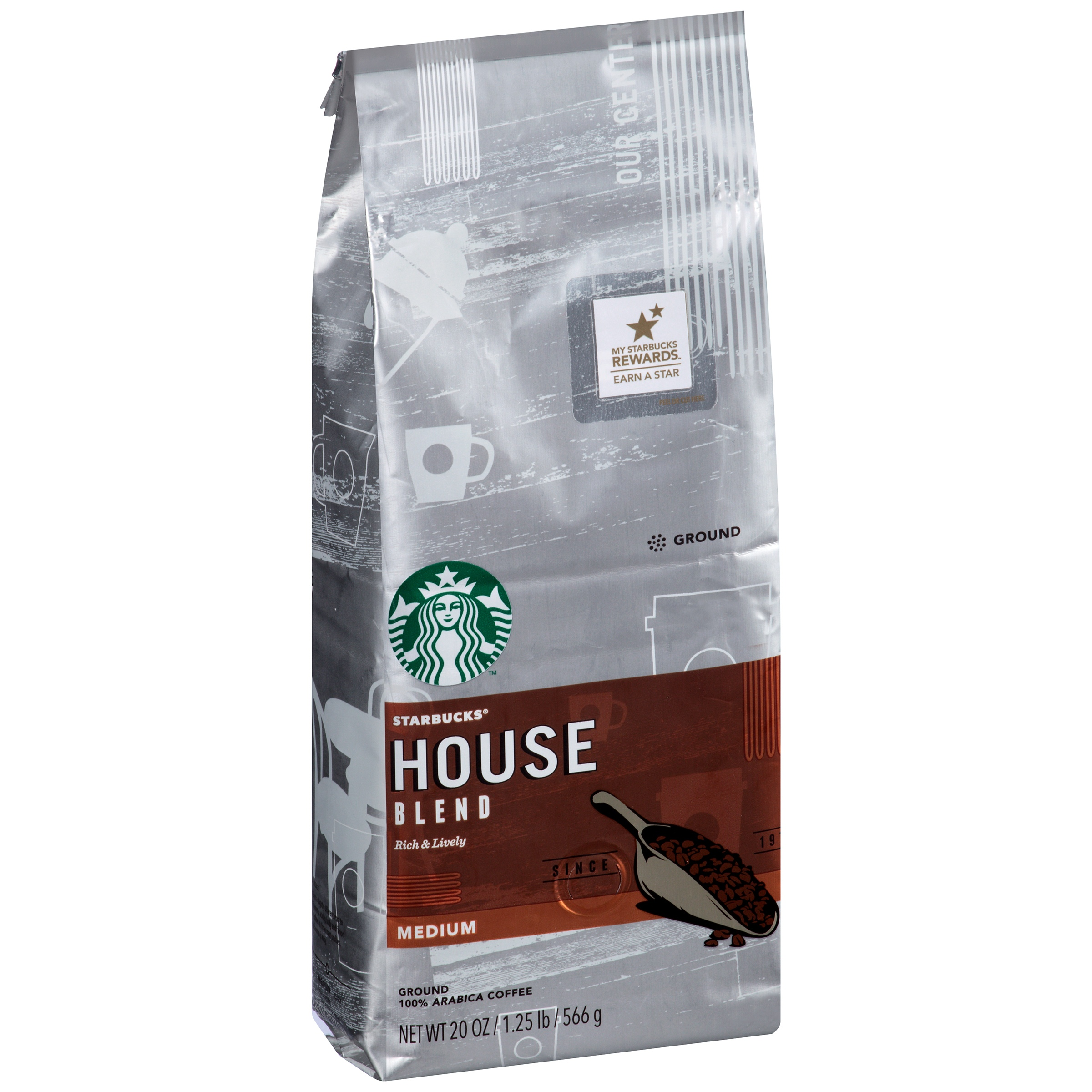 Starbucks House Blend Medium Ground Coffee, 20.0 OZ