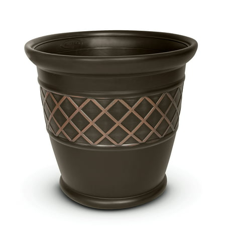 Better Homes & Gardens Lattice Planter, Brown ()