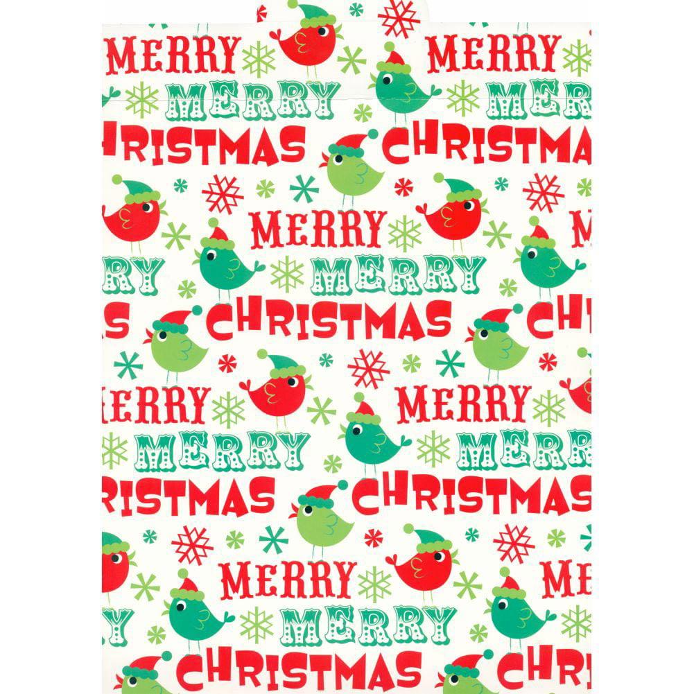 Merry Christmas Birds Calendar Wrapper, Calendar Wrappers by Calendar Ink