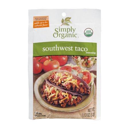 Simply Organic Southwest Taco Seasoning  1 13 Oz