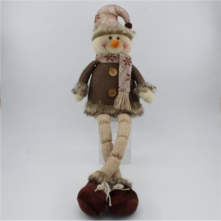 Snowman Shelf (Deco4Sale 48045 26 in. Snowman Shelf Sitter, Brown Coat )