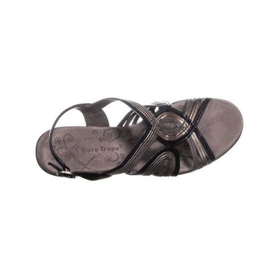 1cb7fc612a BareTraps - Womens BareTraps Dangle Open Toe Wedge Sandals, Black ...
