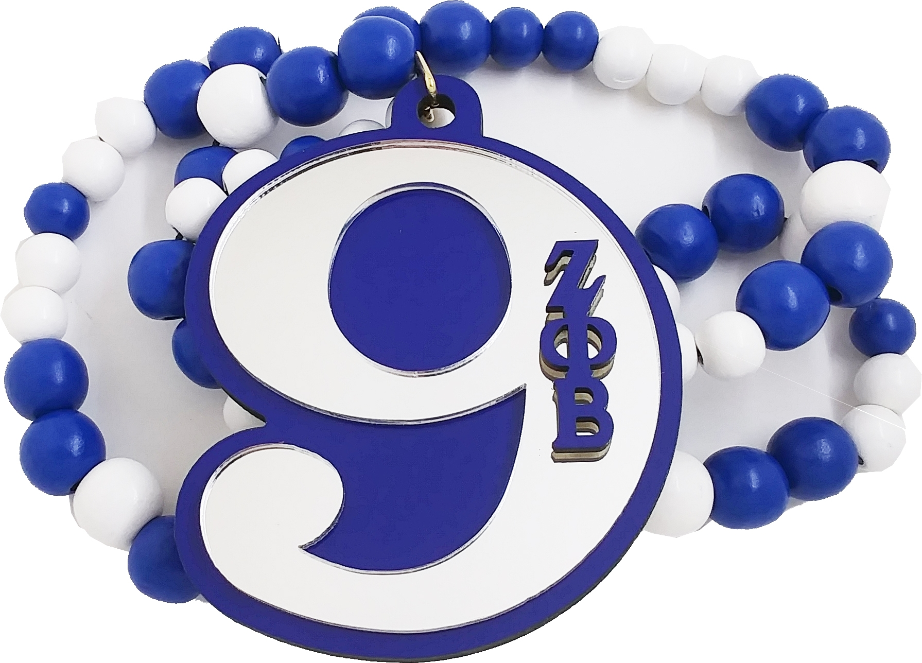 Line Number Tiki Necklace #7 Zeta Phi Beta