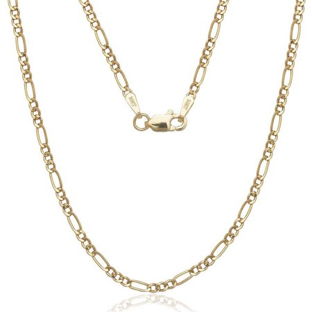 """A&M Solid 14kt Gold Figaro Chain, 2MM 16"""""""