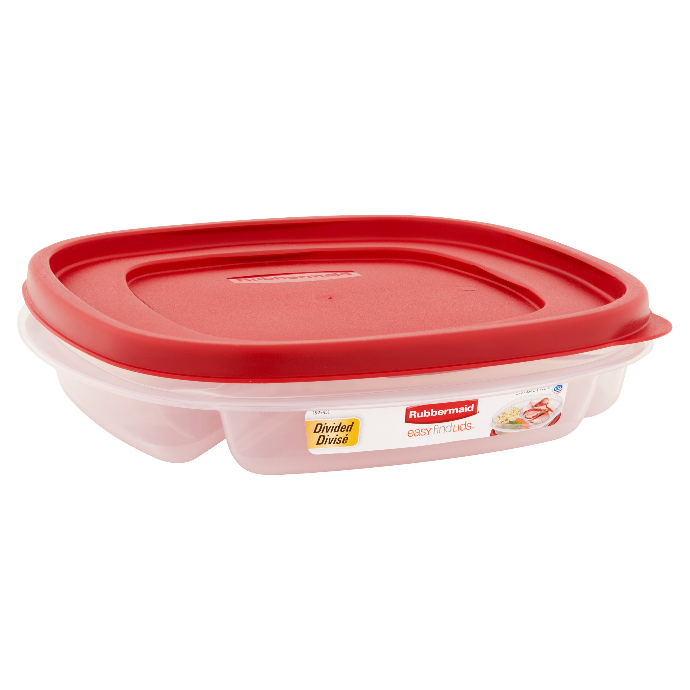 Rubbermaid Easy Find Lids Food Storage Container 48 Cup Divided