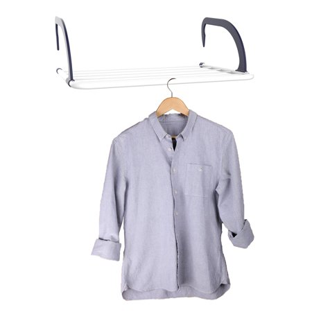 Indoor/Outdoor Clothes Drying Rack-Small Over the Door or Railing Portable Rack for Air Drying Laundry-Great for Apartments or Dorms by Lavish Home