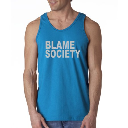 Trendy USA 1045 - Men's Tank-Top Blame Society Medium Sapphire