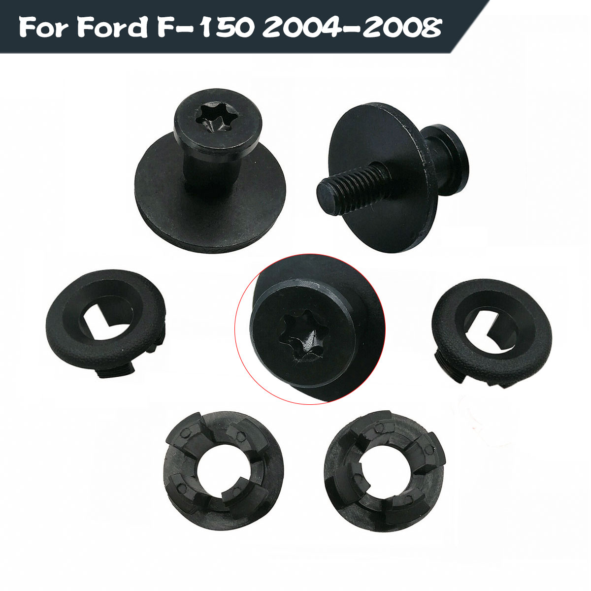 KARPAL Truck Bed Extender Installation Mounting Bolt Nut Hardware Kit Compatible With 2004-2008 Ford F-150