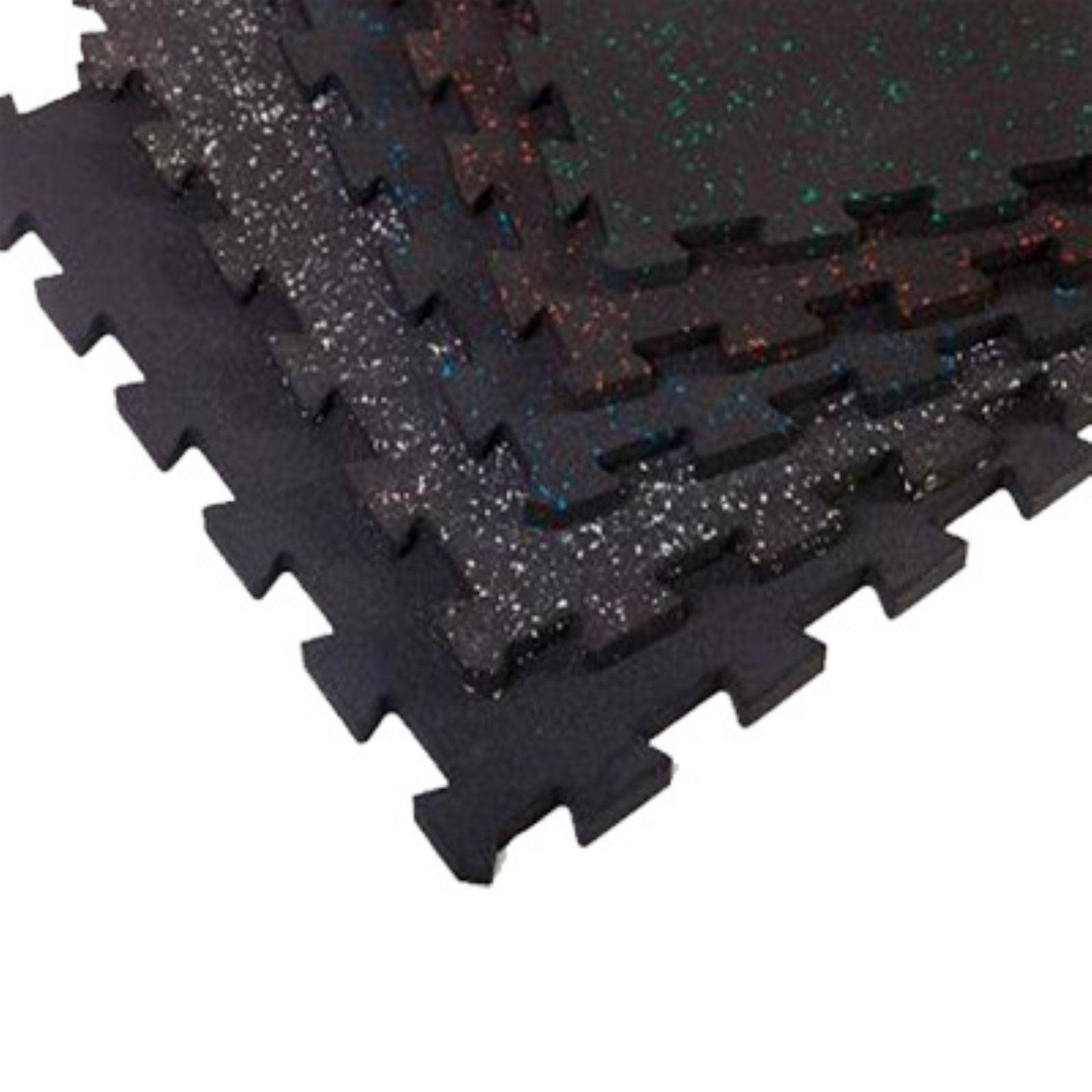 SuperLock Heavy Duty Interlocking Rubber Flooring - 6 Pieces