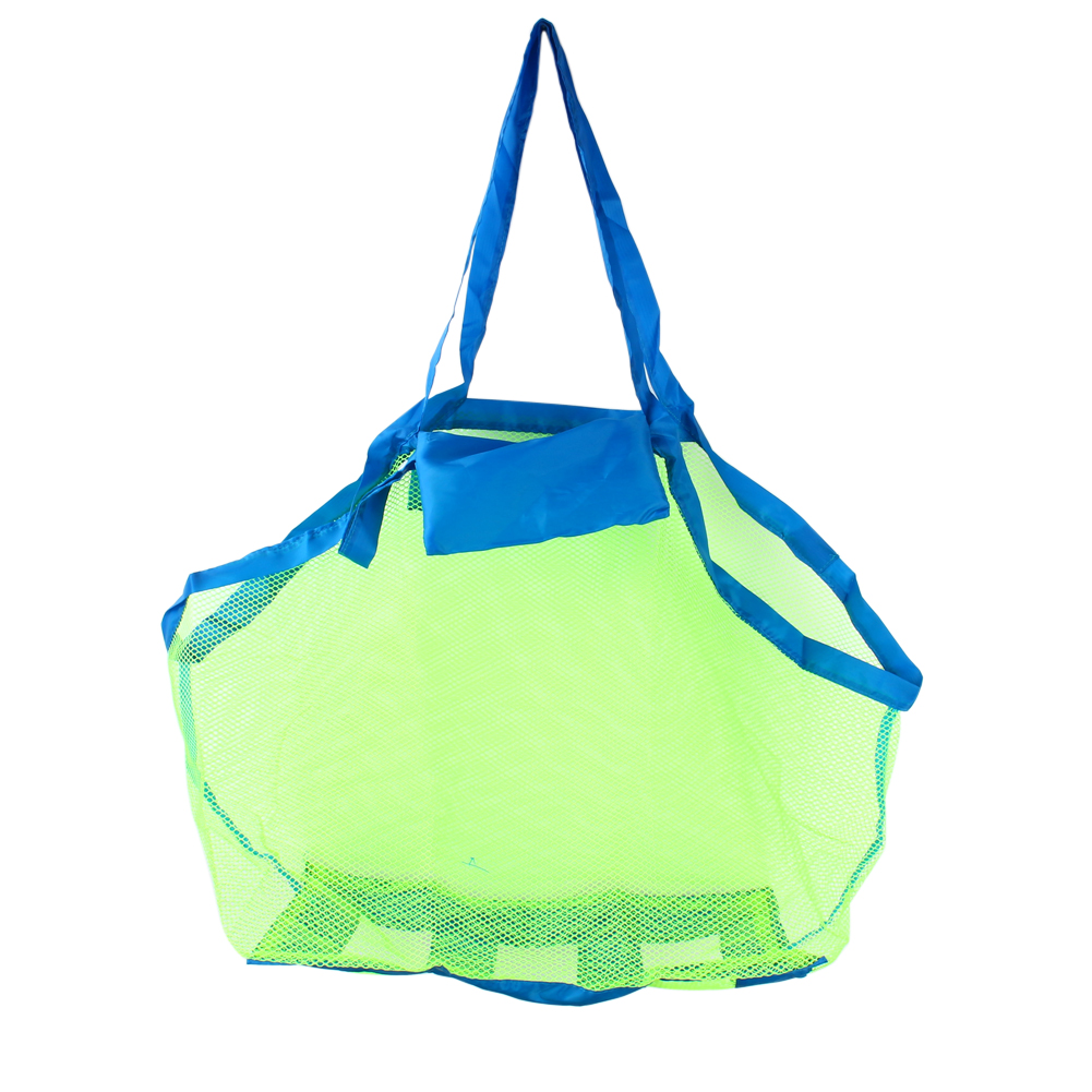 Portable Sand Away Carry All Kids Toys Mesh Tote Large Beach Storage Bag Net by Yosoo