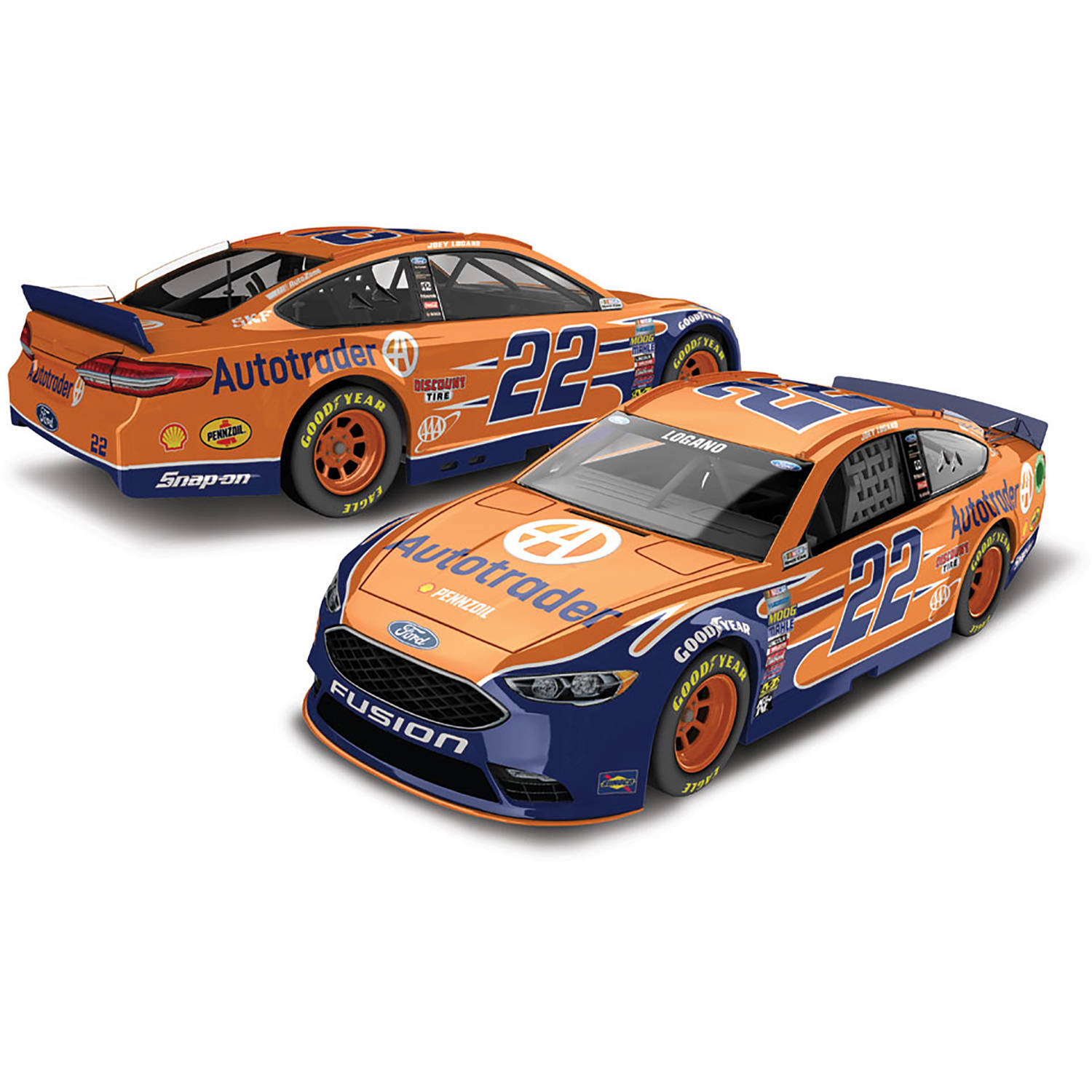 Lionel Racing Joey Logano #22 Auto Trader 2017 Ford Fusion 1:64th Scale Hard-Top Official Diecast of the NASCAR Cup Series