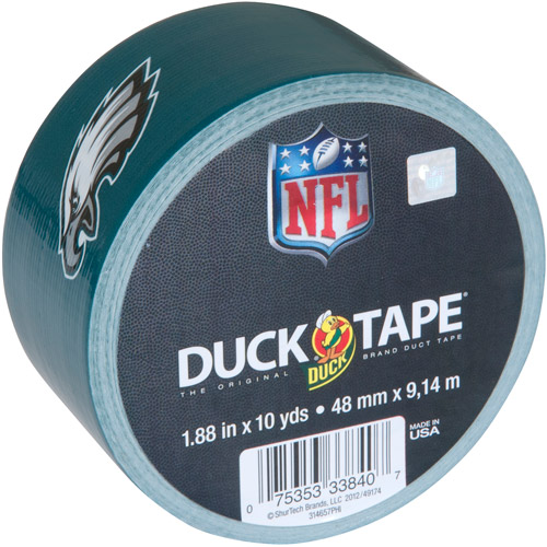 "Duck Brand Duct Tape, NFL Duck Tape, 1.88"" x 10 yard, Philadelphia Eagles"