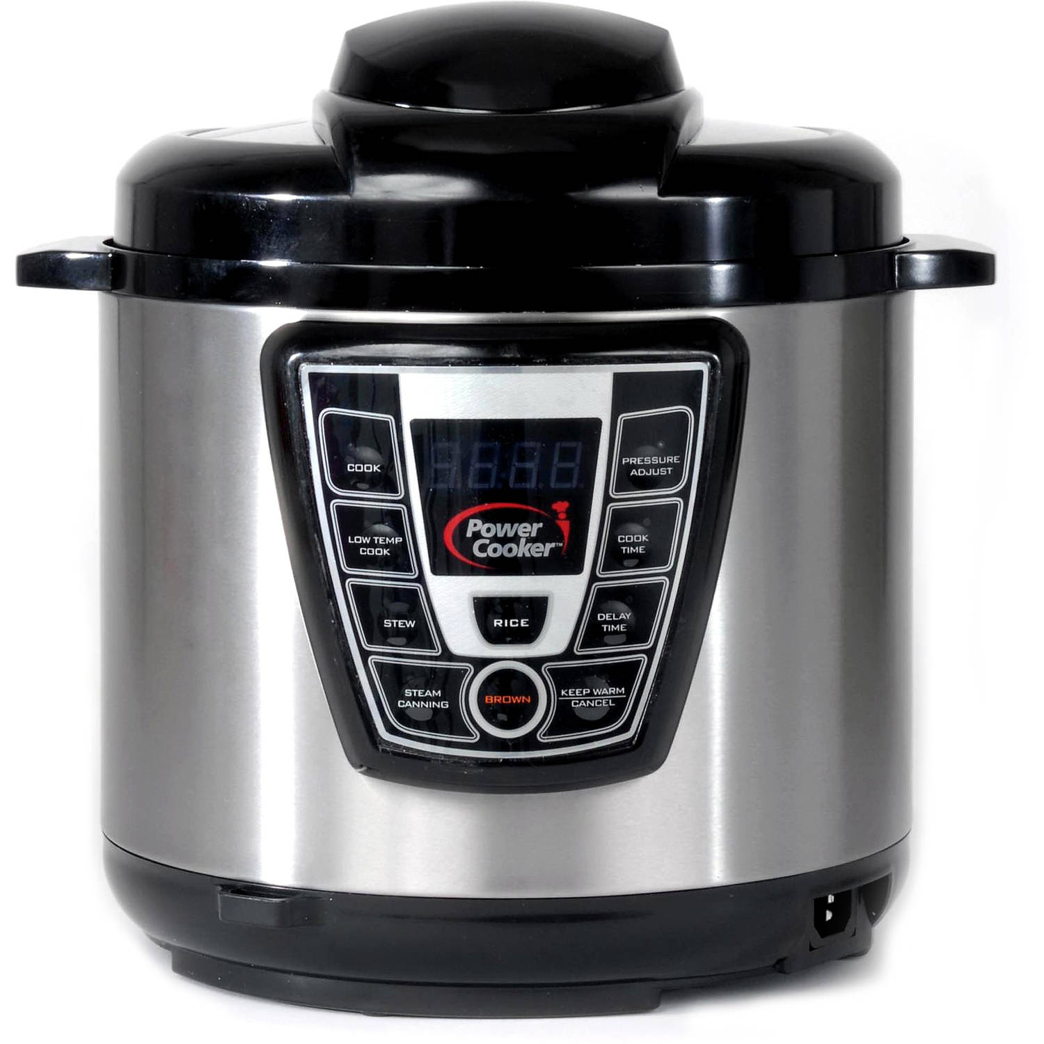 Refurbished Power Cooker PC-WAL1 6 qt Pressure Cooker, Silver