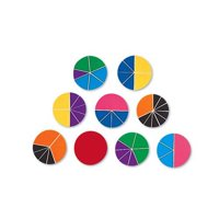 Deluxe Rainbow Fraction Circles-51/Pk