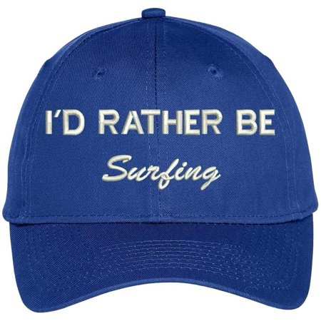 Trendy Apparel Shop I Rather Be Surfing Embroidered Baseball Cap