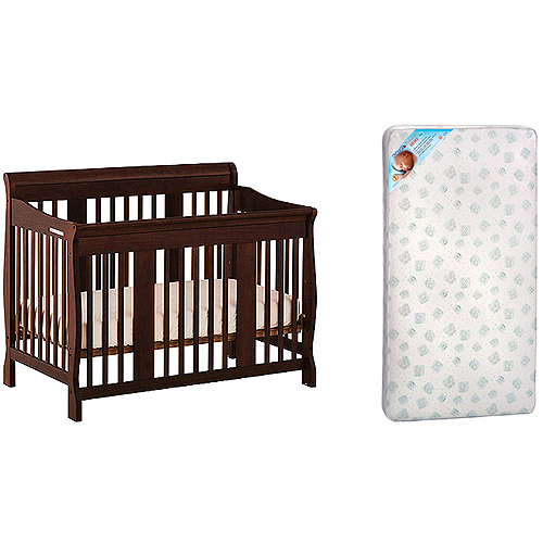Storkcraft - Tuscany Crib & Kolcraft Mattress Bundle, Espresso