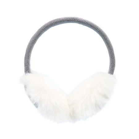 Men Women's Winter Plush Knit Reindeer Earmuffs Ear Warmer, Grey](Reindeer Ears)