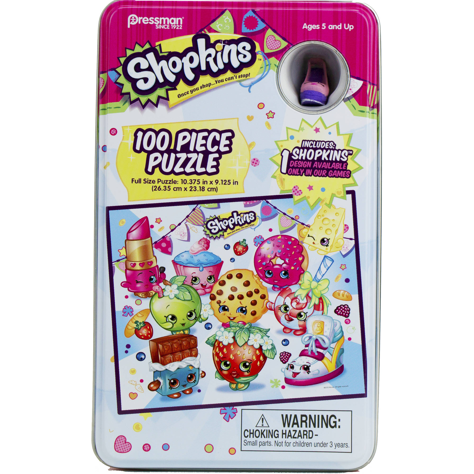 Shopkins 100-Piece Puzzle in Collectible Tin by Pressman Toy
