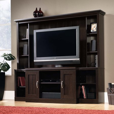 """Sauder Cinnamon Cherry Entertainment Center for TVs up to 47"""" by"""