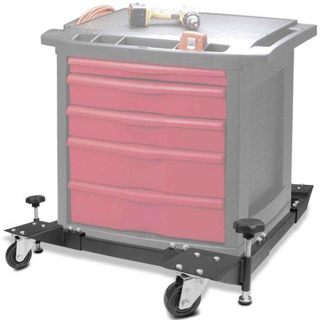 Titan Adjustable Mobile Base Dolly 600 lb Capacity HD Universal Power -